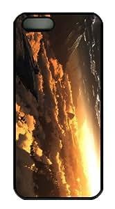 case cool Digital Landscape Sunset PC Black Case for iphone 5/5S