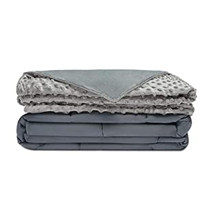 "Quility Premium Kids & Adult Weighted Blanket & Removable Cover | 12 lbs | 48""x72"" 