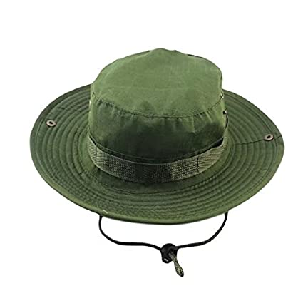 a33b536b67 Vrcoco Summer Boonie Hat Wide Brim Bucket Hat Lightweight Casual Cowboy  Camouflage Fishing Golf Hat