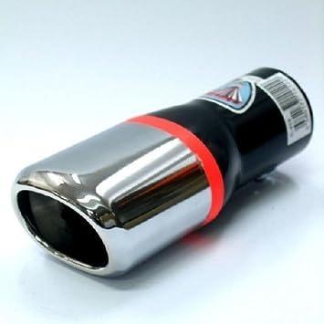 Boloromo 421 Universal Auspuff Blende Doppelrohr Endrohr Edelstahl Auspuffblende 43-62mm /Ø Chrom