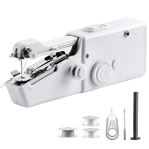 Handheld Sewing Machine, Cordless Handheld Electric Sewing Machine, Quick Handy Stitch for Fabric, Clothing, Kids Cloth Home Travel Use