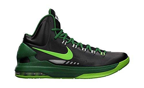 Nike Men's KD V Basketball Shoe, Nero/Verde, 45 D(M) EU/10 D(M) UK