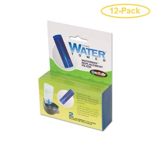 Our Pets Water Tower Filters 2 Pack - Pack of 12