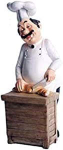 SMANTA Chef Slicing Loaf Decorative Statues - 3D Resin Home Countertop Table Decoration for Country Cottage Decor & Gourmet Kitchen Decorations