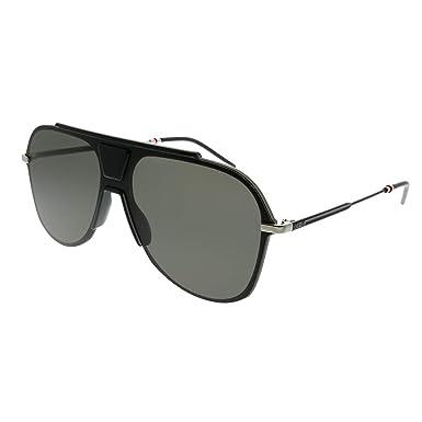 10d922e865 Amazon.com  Dior Homme 0224S O6W 2K Black Ruthenium Plastic Aviator ...