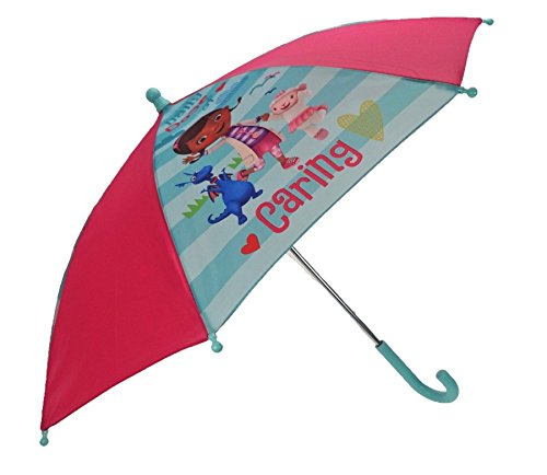 Disney Doc Mcstuffins Sunny Days Waterproof Open & Close Compact Kids Umbrella -
