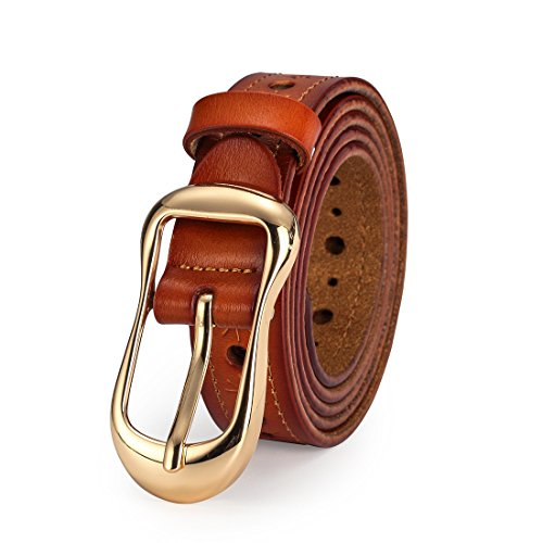 Denim Girls Belt - Women's Leather Belt for Girls Dress Jeans Pants with Alloy Buckle All Match Waistbelt 0.9