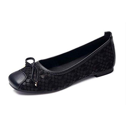 Zapatos Individuales para Mujeres, Zapatos Cómodos Antideslizantes, Zapatos Perezosos, Zapatos de Mujer, Zapatos con Fondo Plano y Fondo Suave B