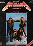 Metallica Complete Vol1 with Tablature, , 0895247739
