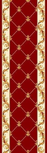 KAS Oriental Rugs Corinthian Collection Fleur-De-Lis Runner, 2'2
