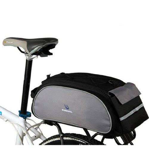 Roswheel Multi-function Black Cycling Bicycle Bag Bike Rear Seat Carrier Basket Rack Pannier 13L