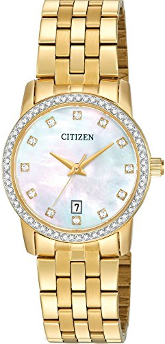 Citizen Analog Mother of Pearl Dial Women's Watch - EU6032-51D