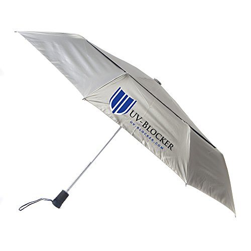 - UV-Blocker Umbrella with Solar Protection | Blocks 99% of UVA/UVB Sun Rays to Protect Against Skin Cancer | Recommended by the Melanoma International Foundation | Double Canopy Vented Cooling Umbrella