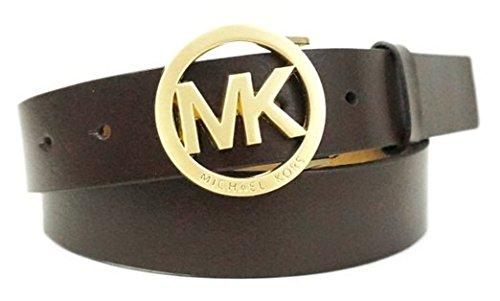 Amazon.com: Michael Kors MK Firma logotipo Piel café ...