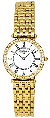 Longines La Grande Classique 18k Gold & Diamond Womens Watch - L4.191.7.11.6