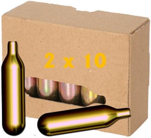 Unbekannt Lot de 2 Capsules /à bi/ère Co2 16 g pour Appareil /à bi/ère comme Biermaxx Zapfprofi