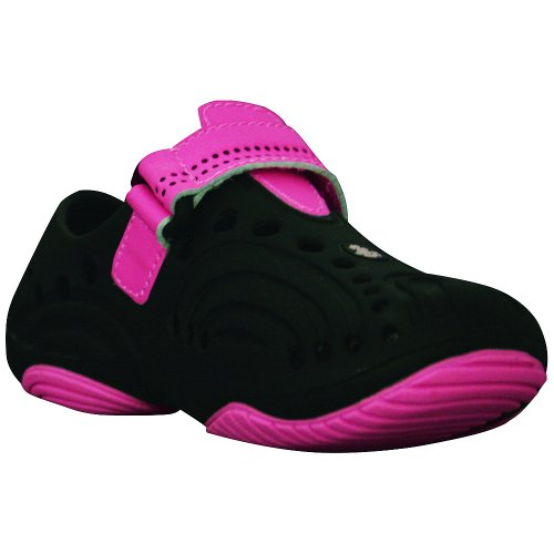 DAWGS Girls Premium Spirit Shoes Black with Hot Pink