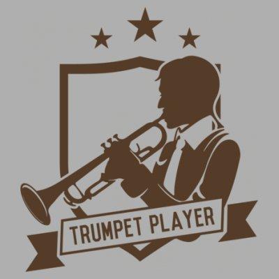 Sudadera con capucha de mujer Trumpet Player Star by Shirtcity Gris granulado