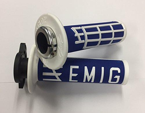 Odi Emig V2 Lock-On Grips - 2 & 4-Stroke (Blue/White) (Best 2 Stroke Motocross Bike)