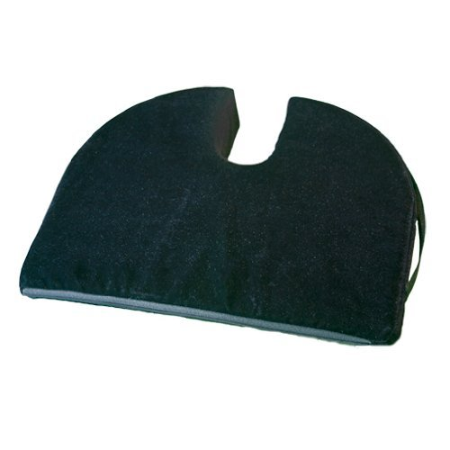 Custom Wheelchair Cushion Cover - RelaxoBak Back and Coccyx Support - Orthopedic Car Seat Wedge Cushion - Relieves Pain and Discomfort from Sitting Backache, Tailbone Pain, Hip Pain, Sciatica (Black Velour)