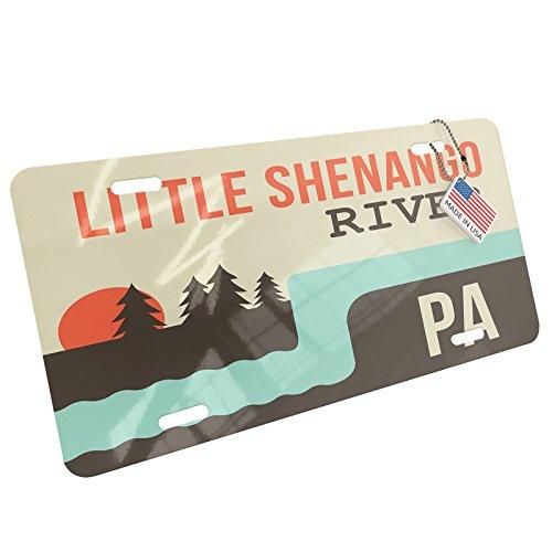 Metal License Plate USA Rivers Little Shenango River - Pennsylvania - Neonblond