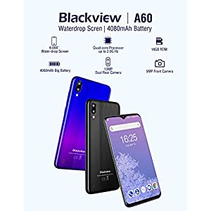 Mobile Phone, Blackview A60 Android Phone Unlocked SIM Free Smartphones, Dual SIM 6.1 inches 19.2:9 IPS Full-Screen…