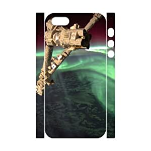 3D iPhone 5,5S Case aurora australis nasa international space station Hardshell For Girls, Iphone 5s Cases For Girls Protective, [White]