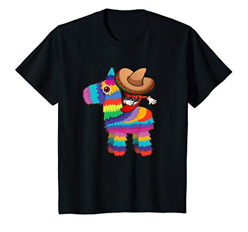 (Kids Dabbing Chili Pepper T Shirt Pinata Cinco de Mayo Gift)