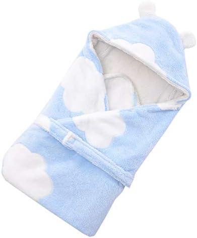 Setaria Viridis ベビーブランケット 新生児おくるみ 赤ちゃん絨毯 柔らかい 子供 布団 暖かい 昼寝布団 出産お祝い 80*80 cm (ブルー, 昙)
