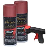 Plasti Dip Luxury Metal Spray, 2, 11oz Cans with Cangun Trigger (Volcanic Red)