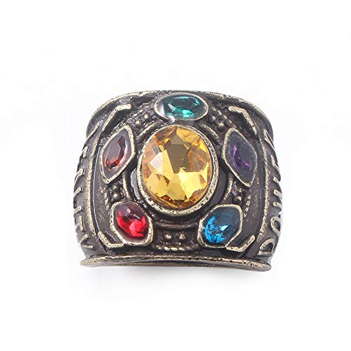 N-BOOMOR Thanos Ring Avengers The Infinity War Stones Gauntlet Ring ()