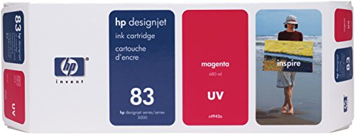 HP 83 C4942A UV Ink Cartridge for DesignJet 5000 series, 680ml, Magenta (83 Uv Ink)