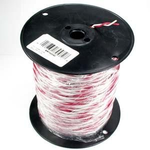 InstallerParts 500Ft 18/2 Solid Red/White Bell Wire