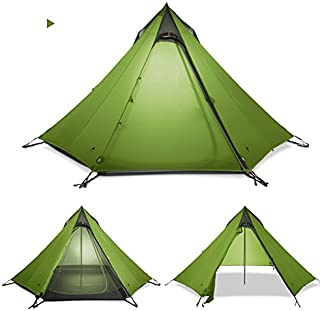 3F UL Gear Ultralight Backpacking 2-3P Teepee Pyramid Tent Green  sc 1 st  Amazon.com : spike tent - memphite.com