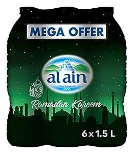 Al Ain Bottled Water Mega Offer - Pack of 6 Pcs (6 x 1.5L)