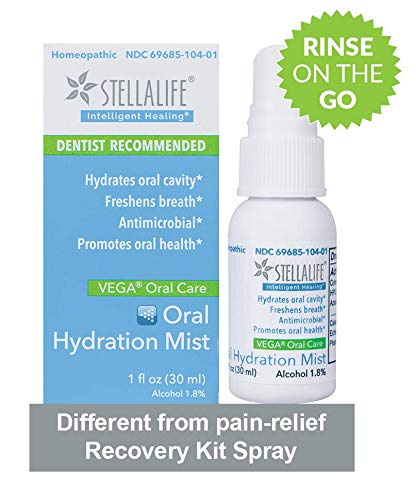 Encounter Moisturizing Gel - StellaLife VEGA Oral Hydration Mist: Dry Mouth Relief, Natural Daily Dental Hygiene for Healthy Gums, Fresh Breath, Mint, Antimicrobial, Mouthwash On The Go, Xylitol, Advanced, Moisturizing, Non-GMO