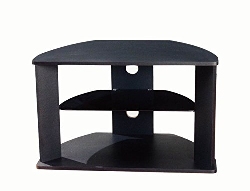 Black Corner TV Cart by Aspen Leaf Specialties