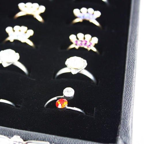 Generic ycuk2_ 150815_ 84< 1& 4508* 1> ND--- bwellery DIS Display Aufbewahrung Top Qualität Glas Box Tablett Fall Deckel 36Ring Schmuck Ständer--- B Top Qualität -