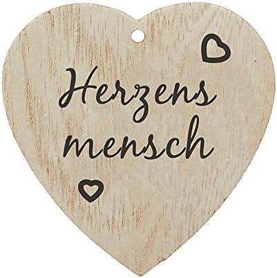 jakopabra Kleiner Anh/änger Holzherz Alles Gute zum Geburtstag//Geschenkanh/änger