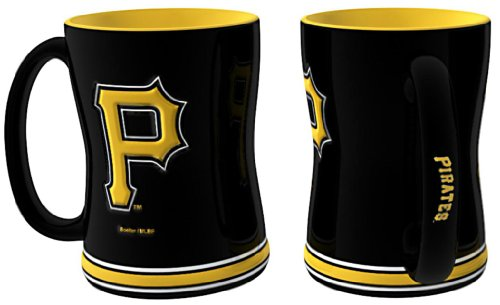(Boelter Brands MLB Pittsburgh Pirates Coffee Mug14oz Sculpted Relief, Team Color, 14 Ounce)
