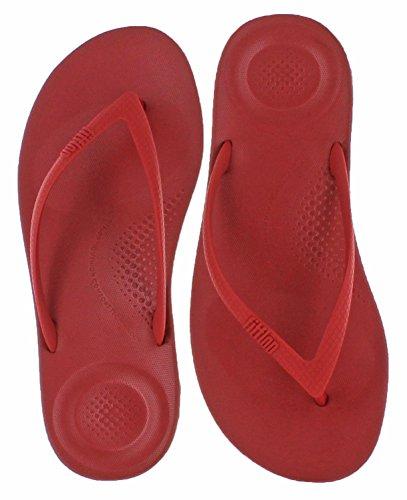 Fitflop Womens Iqushion Super-ergonomisk Flip-flops Klassiske Røde