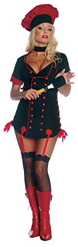Seven Til Midnight Womens Sizzle Chef Outfit Fancy Party Dress Sexy Costume, L (10-14)]()