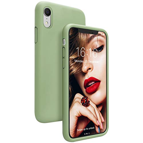JASBON Case for iPhone XR, Shockproof Silicone Phone Cover with Raised Edges, Gel Rubber Full Protection Soft Microfiber Lining Cushion Anti-Scratches Case for iPhone XR 6.1inch