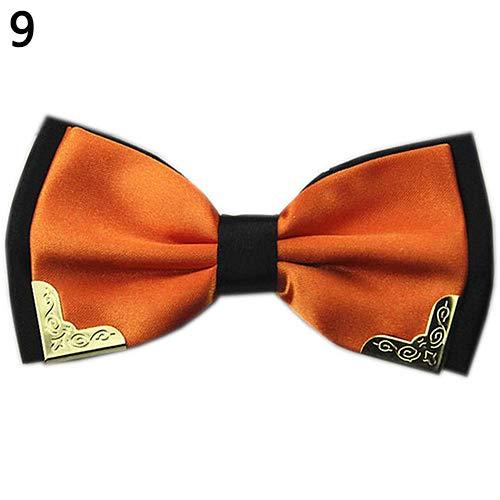 ruiycltd New years Gift Men Adjustable Bridegroom Tuxedo Wedding Party Metal Decor Bow Tie Bowtie Necktie