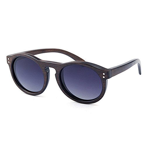 Unisex a para Redonda Diario de protección Forma Hechos Hombres Sol UV Color Lente al Madera De Aire múltiples Uso y Gafas Mujeres Vintage para Libre Gububi Mano de Fines Coffe Azul Color Adecuado Xw6xTPH4q