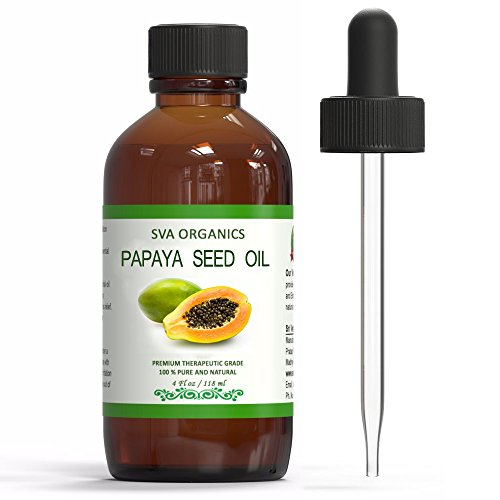 SVA ORGANICS 100% PURE COLD PRESSED PAPAYA SEED OIL 4 OZ (118 ML) - Oil Lightening