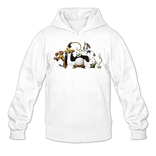Chris-T Kung Fu Panda 3 PO and Friends Men's Long Sleeve Jacket White US Size XXL ()