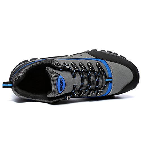 tqgold Men's Women's Trekking and Hiking Shoes Outdoor Waterproof Low Rise Mens Walking Trainer Boots (Deep Blue,Size 36)