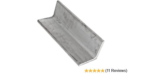"""1//8/"""" thickness 1//2 x 1//2 60/"""" Inch Long Mild Steel Angle"""