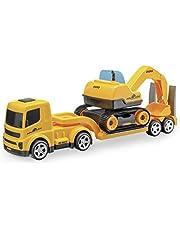 Caminhão Mamute Prancha Escavadeira, Usual, Amarelo